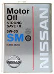 Оригинальное моторное масло Nissan STRONG SAVE-X 5W-30 SM 4л